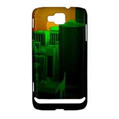 Green Building City Night Samsung Ativ S i8750 Hardshell Case