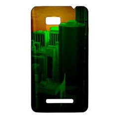 Green Building City Night HTC One SU T528W Hardshell Case