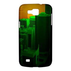 Green Building City Night Samsung Galaxy Premier I9260 Hardshell Case