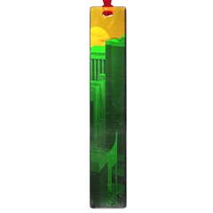 Green Building City Night Large Book Marks
