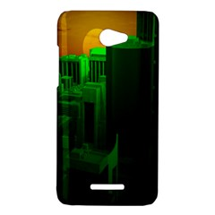Green Building City Night HTC Butterfly X920E Hardshell Case