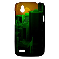 Green Building City Night HTC Desire V (T328W) Hardshell Case