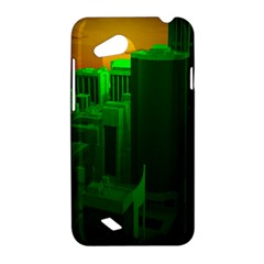 Green Building City Night HTC Desire VC (T328D) Hardshell Case