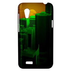 Green Building City Night HTC Desire VT (T328T) Hardshell Case