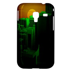 Green Building City Night Samsung Galaxy Ace Plus S7500 Hardshell Case