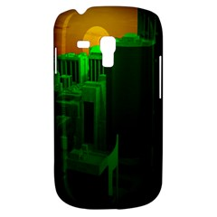 Green Building City Night Samsung Galaxy S3 MINI I8190 Hardshell Case