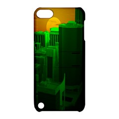 Green Building City Night Apple iPod Touch 5 Hardshell Case with Stand
