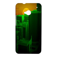 Green Building City Night HTC One M7 Hardshell Case