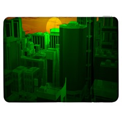 Green Building City Night Samsung Galaxy Tab 7  P1000 Flip Case