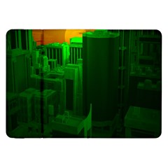 Green Building City Night Samsung Galaxy Tab 8.9  P7300 Flip Case