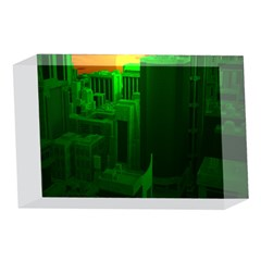 Green Building City Night 4 x 6  Acrylic Photo Blocks