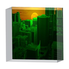 Green Building City Night 5  x 5  Acrylic Photo Blocks