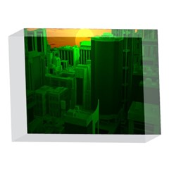 Green Building City Night 5 x 7  Acrylic Photo Blocks