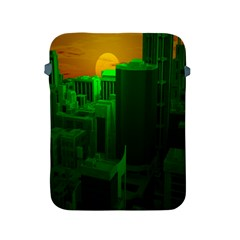 Green Building City Night Apple iPad 2/3/4 Protective Soft Cases