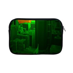 Green Building City Night Apple iPad Mini Zipper Cases