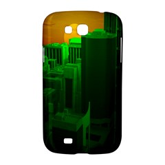 Green Building City Night Samsung Galaxy Grand GT-I9128 Hardshell Case