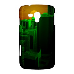 Green Building City Night Samsung Galaxy Duos I8262 Hardshell Case