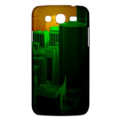 Green Building City Night Samsung Galaxy Mega 5.8 I9152 Hardshell Case