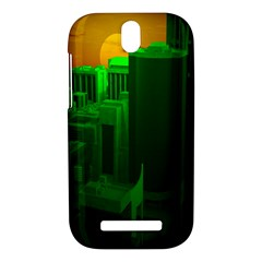 Green Building City Night HTC One SV Hardshell Case