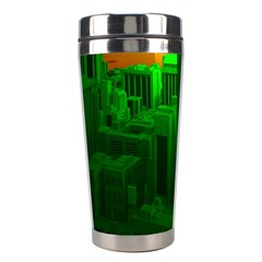 Green Building City Night Stainless Steel Travel Tumblers