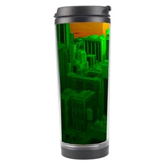 Green Building City Night Travel Tumbler