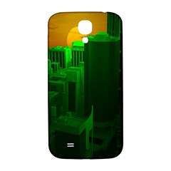 Green Building City Night Samsung Galaxy S4 I9500/I9505  Hardshell Back Case
