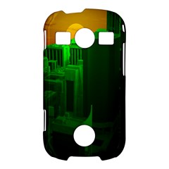 Green Building City Night Samsung Galaxy S7710 Xcover 2 Hardshell Case