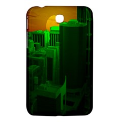 Green Building City Night Samsung Galaxy Tab 3 (7 ) P3200 Hardshell Case