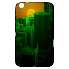 Green Building City Night Samsung Galaxy Tab 3 (8 ) T3100 Hardshell Case
