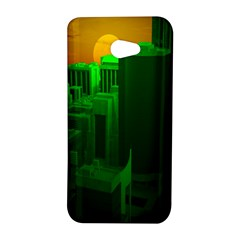 Green Building City Night HTC Butterfly S/HTC 9060 Hardshell Case