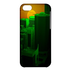 Green Building City Night Apple iPhone 5C Hardshell Case