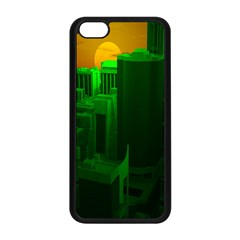 Green Building City Night Apple iPhone 5C Seamless Case (Black)