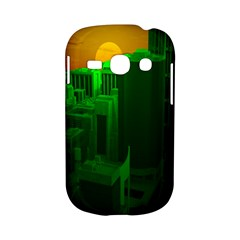 Green Building City Night Samsung Galaxy S6810 Hardshell Case