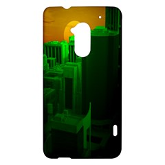 Green Building City Night HTC One Max (T6) Hardshell Case