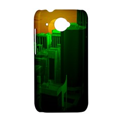 Green Building City Night HTC Desire 601 Hardshell Case