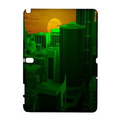 Green Building City Night Samsung Galaxy Note 10.1 (P600) Hardshell Case