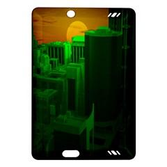 Green Building City Night Amazon Kindle Fire HD (2013) Hardshell Case