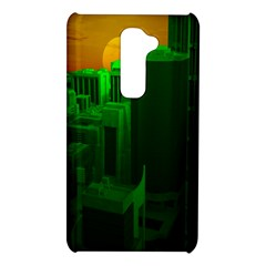 Green Building City Night LG G2