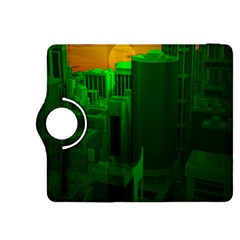 Green Building City Night Kindle Fire HDX 8.9  Flip 360 Case