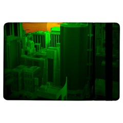 Green Building City Night iPad Air Flip