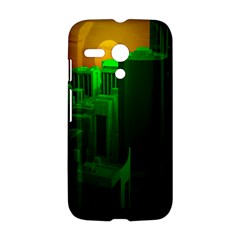 Green Building City Night Motorola Moto G