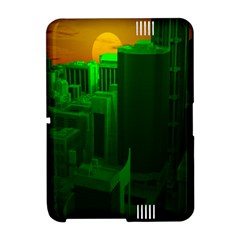 Green Building City Night Amazon Kindle Fire (2012) Hardshell Case