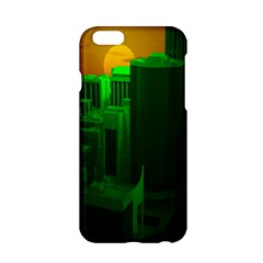 Green Building City Night Apple iPhone 6/6S Hardshell Case