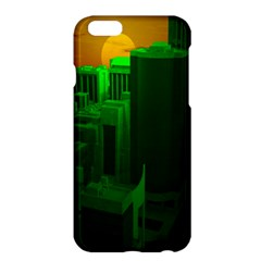 Green Building City Night Apple iPhone 6 Plus/6S Plus Hardshell Case