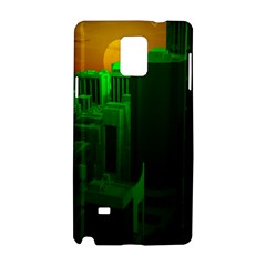 Green Building City Night Samsung Galaxy Note 4 Hardshell Case