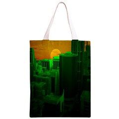 Green Building City Night Classic Light Tote Bag