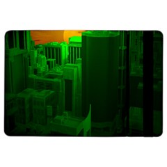 Green Building City Night iPad Air 2 Flip
