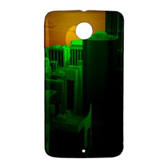 Green Building City Night Nexus 6 Case (White)