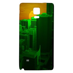 Green Building City Night Galaxy Note 4 Back Case