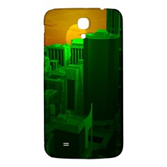 Green Building City Night Samsung Galaxy Mega I9200 Hardshell Back Case